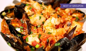 Cajun Islands: Shrimp, Clams, Mussels, Crawfish, Snow Crab, Lobster at Cajun Islands (Up to 41% Off). Three Options Available.