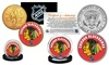 Chicago Blackhawks or Tampa Bay Lightning 2-Coin Set: Chicago Blackhawks or Tampa Bay Lightning Commemorative Kennedy Half Dollar and 24K Gold-Plated Quarter Set