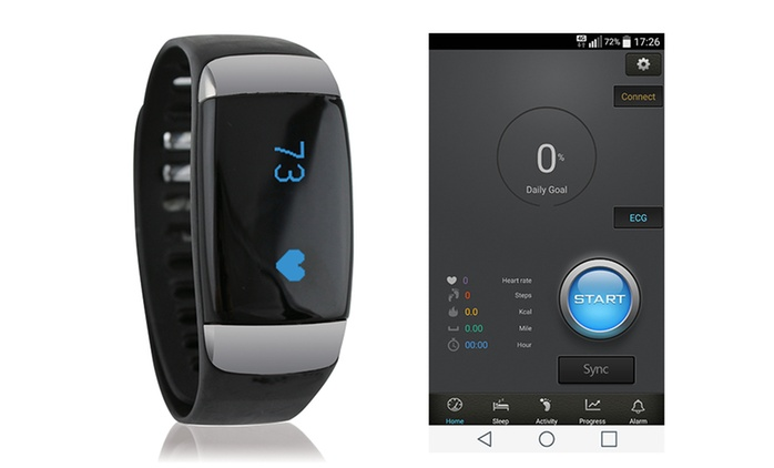 $39 for a Showerproof Fitness Bracelet with Heart Rate Monitor (Don't Pay $199)
