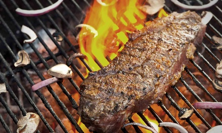 $49.99 All-You-Can-Eat Argentinian Steak Dinner for Two with Wine & Dessert at Siga la Vaca ($70 Value)