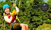 Adventure Park at Five Oaks (SEE ALL 3 INDIVIDUAL ATTRACTION ACCOUNTS) - Sevierville: $69 for a Zipline Canopy Tour for Two from Adventure Park at Five Oaks ($139.98 Value)
