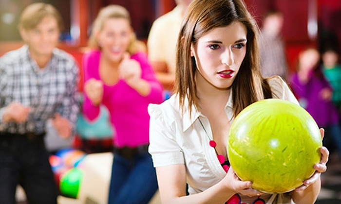 Z Strike Bowling - The Downtown Loop: $39 for Two Hours of Bowling with Shoe Rentals for Up to Six and Pizza at Z Strike Bowling (Up to $79.95 Value)