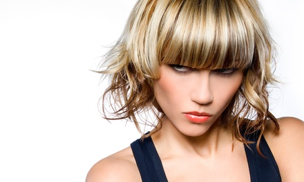 Haircut Package with Optional Partial or Full Highlights at All Teased Up by Olivia Jewel (Up to 53% Off)