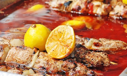 $13.98 for Three $8 Vouchers for Greek Cuisine at Greek Wave ($24 Value)
