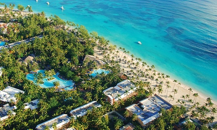 groupon daily deal - ✈ Barceló Dominican Beach Stay w/ Air from Vacation Express. Incl. Taxes & Fees. Price/Person Based on Double Occupancy.
