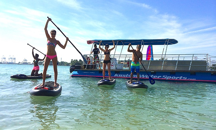 Kustom Water Sports - Kustom Water Sports: $177 for Two-Hour Guided Paddleboard Cruise and Tour for Six From Kustom Water Sports ($354 Value)