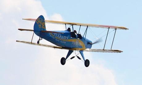 80 oder 100 Minuten Pilot sein inklusive Theorie, selbst fliegen und Videoaufnahme mit Ultraleichtflugschule flyOn