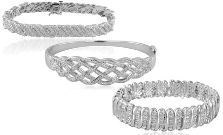 0.50 or 1.00 CTTW Diamond Bracelets