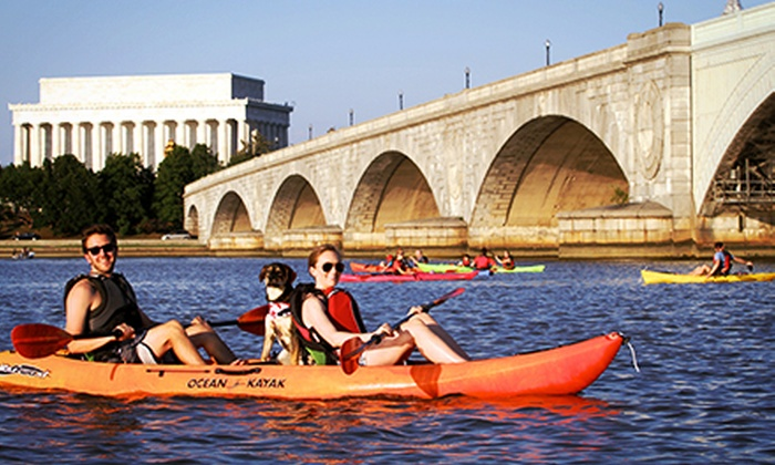 Key Bridge Boathouse - Key Bridge Boathouse: Weekday Kayak Rental or Guided Twilight Tour at Key Bridge Boathouse (Up to Half Off). Three Options Available.