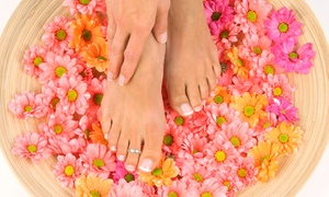 Nail and Skin Day Spa: $53 for One Shellac Manicure with Deluxe Spa Pedicure at Nail and Skin Day Spa ($83 Value)