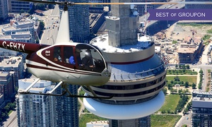 Toronto Heli Tours: 15-Kilometre Aerial Tour of Toronto with a Digital Photo for One or Three from Toronto Heli Tours (Up to 53% Off)