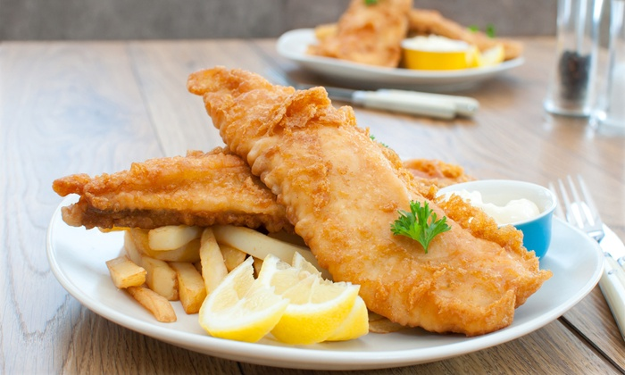 Joeys Restaurants - Multiple Locations: 2 Piece Famous Fish & Chips Meal for Two or Four at Joey's Seafood Restaurant (45% Off). Four Options Available.
