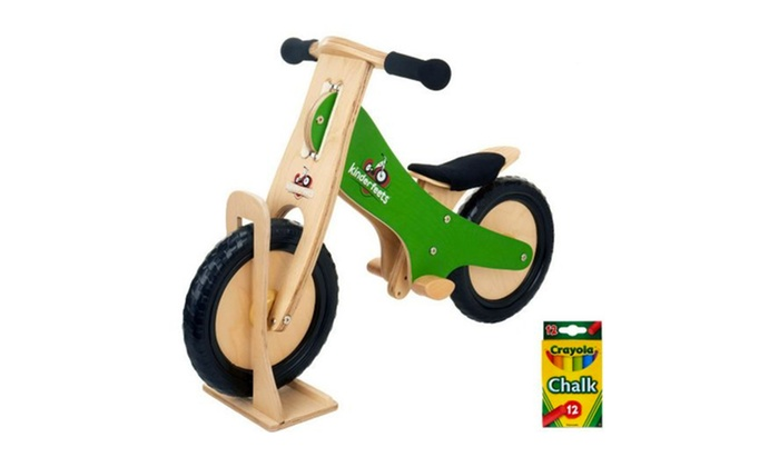 kinderfeets wooden balance bike with chalkboard frame groupon rh groupon com Balance Bikes Ratings Balance Bikes Ratings