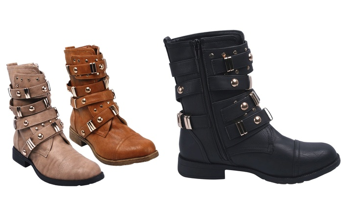 Women's Zip-up Mid Calf Boot | Groupon Goods