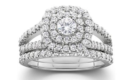 1.00 CTTW Diamond Bridal Set in 10K Gold – By Bliss Diamond