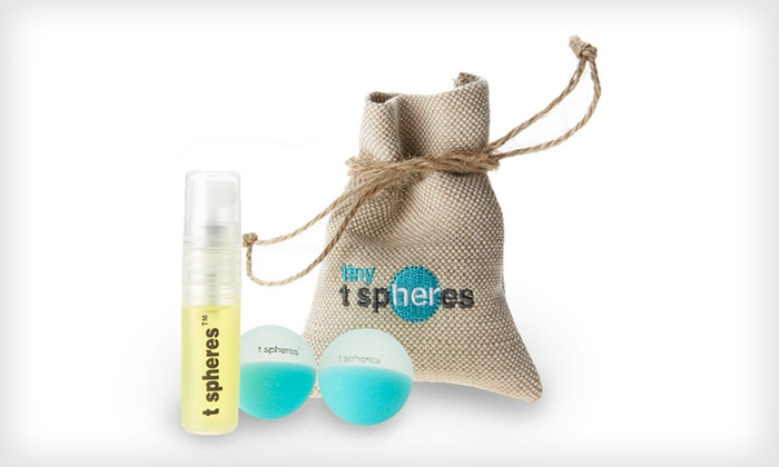 Aromatherapy-Infused Massage Balls: $15 for Pep-Up-Mint Peppermint-Infused T Spheres Massage Balls ($20 List Price). Free Shipping and Free Returns.