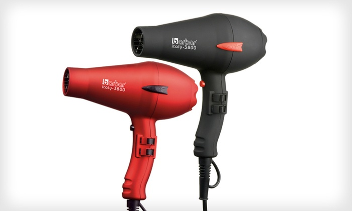 Barbar Italy 3800 Ionic Blow Dryer: $69.99 for a Barbar Italy 3800 Ionic Blow Dryer in Black or Red ($150 List Price). Free Shipping and Returns.