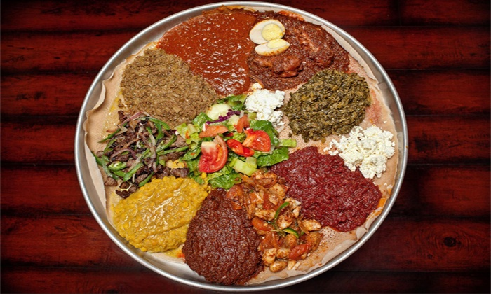 Demera Ethiopian Restaurant - Uptown: Ethiopian Brunch with Drinks for Two or Four at Demera Ethiopian Restaurant (Up to 40% Off)