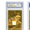Cal Ripken Jr. Embossed Baseball Card with 23K Gold and Bat Piece