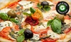 The Loop Pizza Grill - Winston-Salem: Pizza Meal with Salads and Drinks for Two or Four at The Loop Pizza Grill (Up to 55% Off)
