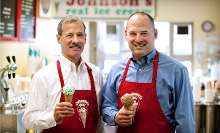 $10 Groupon to Johnson's Real Ice Cream - Johnson's Real Ice Cream in Columbus