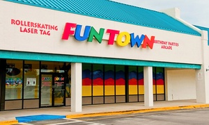 Funtown Family-Center: Skating with Rentals, Laser Tag, or Fun-Center Outing for Two at Funtown Family-Center (Up to 55% Off)