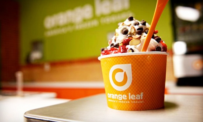 Orange Leaf - Ashwaubenon: $10.50 for a Three-Visit Frozen Yogurt Pass at Orange Leaf ($18 Value)