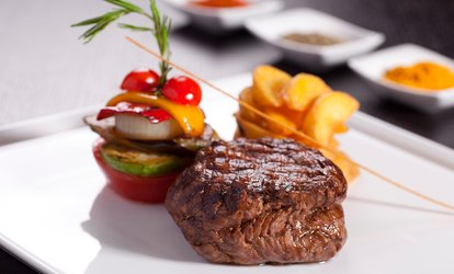 image for Two-Course Rump Steak Meal For Two, Four or Six from £12.95 at Oscars (Up to 65% Off)
