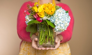 Dine & Design: Flower-Arranging Class for One, Two, or Four at Dine & Design (Up to 52% Off)