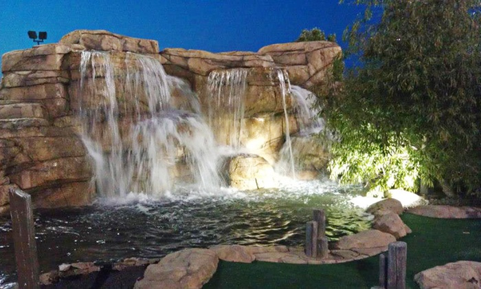Aloha Falls Miniature Golf - Libertyville: Miniature-Golf Outing for Two or Four at Aloha Falls Miniature Golf (Up to 50% Off). Four Options Available.