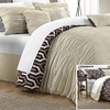 Alexis Ruched Reversible Comforter Set with Geometric Print (7-Piece)