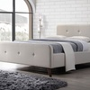 Laurio Midcentury-Modern Upholstered Platform Bed Frame