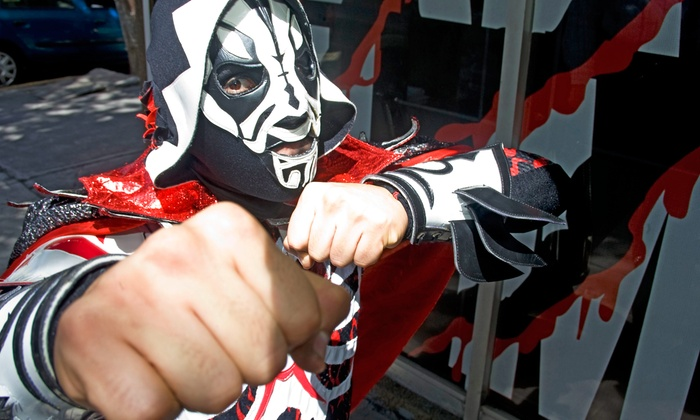 Half Street Fairgrounds- Art Whino - Half Street Fairgrounds: General or VIP Admission to El Mundo de los Luchadores Mexican Wrestling Event on Saturday, May 2 (Up to 50%Off)