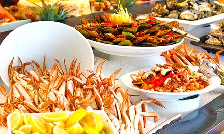 $54.90 for a Sunday AllYouCanEat Seafood Buffet at Baygarden Restaurant Up to $85 Value