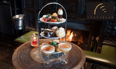 Festive Afternoon Tea with a Cocktail or Premium Champagne Afternoon Tea at Crazy Bear