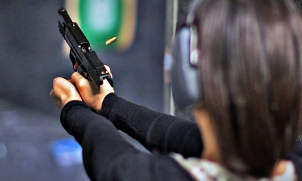 Shooting-Range Package with Handgun Rental and Ammunition for One or Two at DVC Indoor Shooting Centre (40% Off)