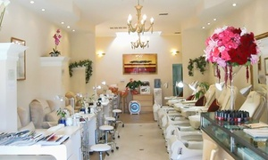 Jardin De Nails: One or Three Organic Spa Mani-Pedis, or One Deluxe Royal Spa Pedi at Jardin De Nails (Up to 34% Off)