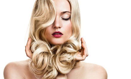 Haircut, Style, and Custom Conditioning with Optional Color or Highlights at The Loft Salon (Up to 59% Off)