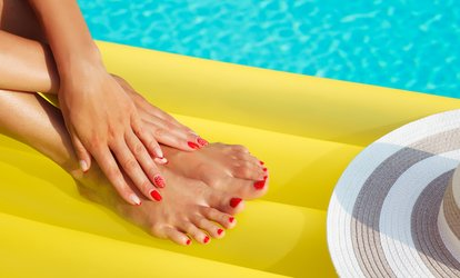 Regular Mani-Pedi, or Shellac Manicure with a Regular Pedicure at Diva Nails (Up to 35% Off)