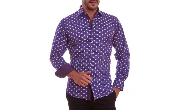 Suslo Couture Men's Cotton Button-Down Shirts (Sizes S & XXXL)