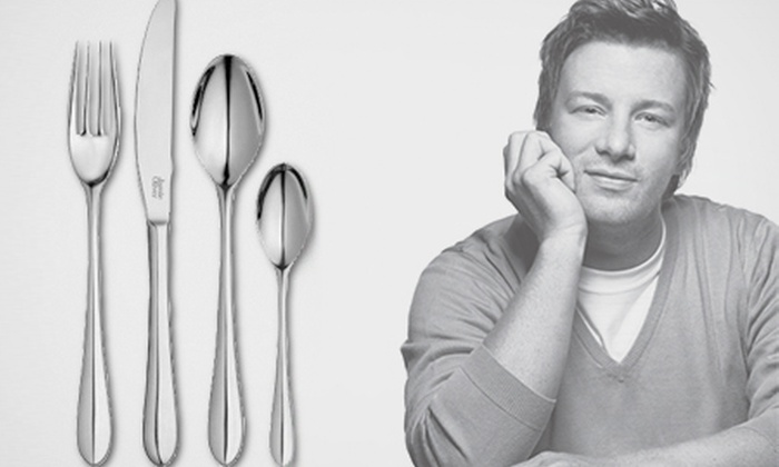 jamie oliver 32 piece cutlery set groupon goods. Black Bedroom Furniture Sets. Home Design Ideas
