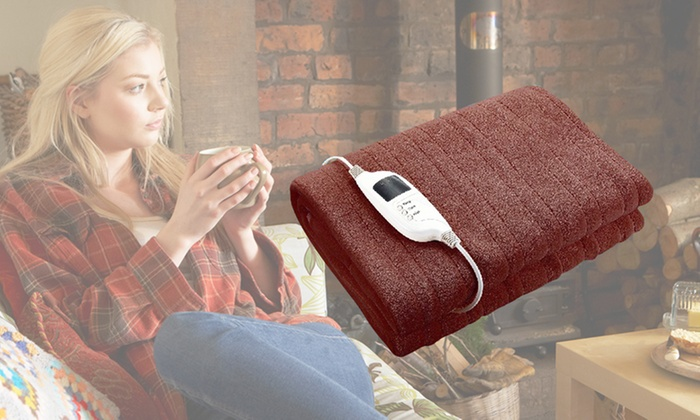 Electric heated throw rug groupon goods Controller rug