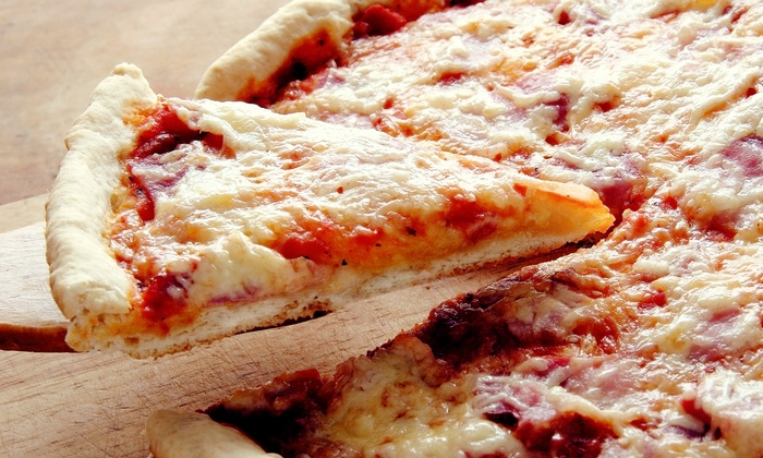 Petes Restaurant and Brewhouse - Pete's Restaurant & Brewhouse: Extra-Large Pizza with Knots or Pub Food for Lunch at Petes Restaurant and Brewhouse (Up to 53% Off)