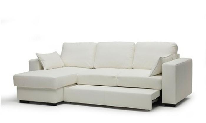 Divano Letto Bianco Ecopelle : Divano letto angolare modello terry groupon goods