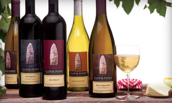 Clovis Point Winery - Clovis Point Vineyard & Winery: Wine Tasting with Cheese Plate or Chocolate Platter for Two or Four at Clovis Point Winery (Up to 61% Off)