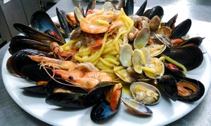 Chi Cerca Trova: Menu di pesce fresco con dolce e vino per 2 persone al ristorante Chi Cerca Trova (sconto fino a 60%)