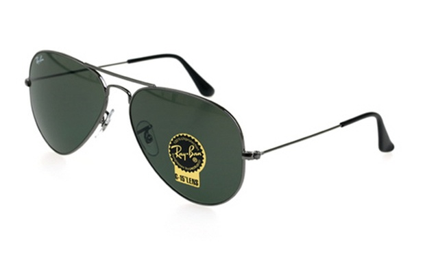 08dab20c6a2  139 for gunmetal frame with green lenses 58mm Ray-Ban Aviators