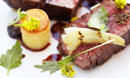 $24 for $40 Worth of French Dinner Fare and Wine at Le Voltaire Restaurant