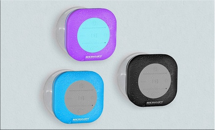 Merkury Innovations Bluetooth Shower Speaker with Mic