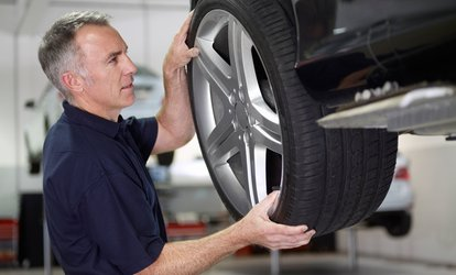 One Full-Service Conventional Oil Change & <strong>Maintenance</strong> Package or Four Wheel Alignment at Midas (Up to 51% Off)